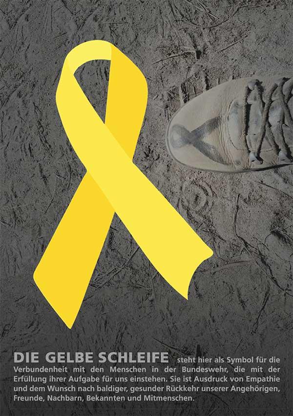 Gelbe Schleife DinA4 Plakat