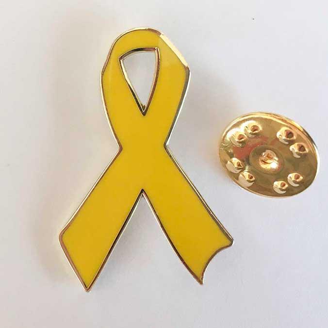 Gelbe Schleife Anstecker